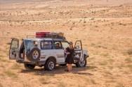 Produktionspause in der Wüste