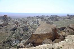 Abbruchkante des Ustjurt Plateaus