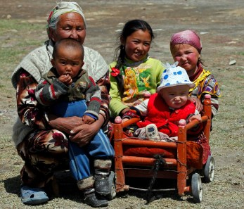 Im Austausch mit einer zentralasiatische Familie
