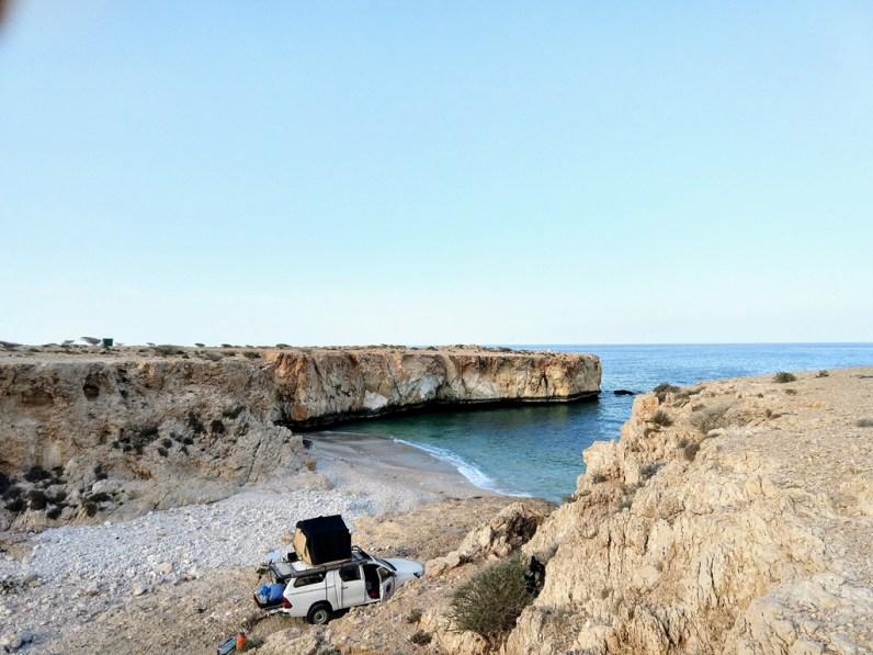 Eine abgeschiedene Badestelle im Oman