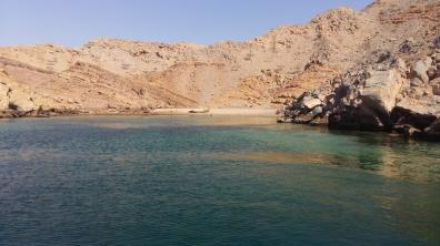 Bucht in Musandam während der Dhaufahrt