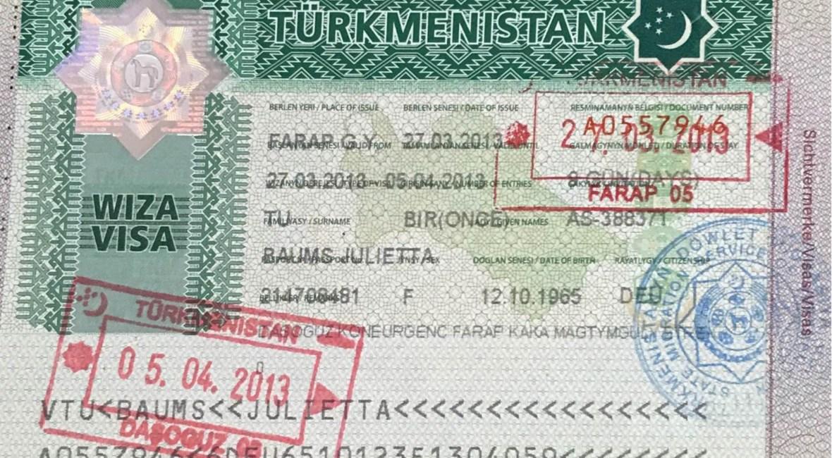 Turkmenistan Visum