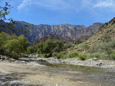 Fahrt durch ein Wadi