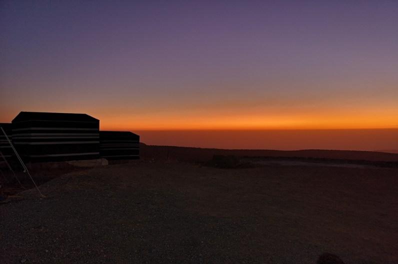Sonnenuntergang über dem Dana Nature Reserve