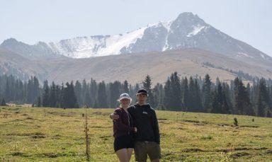 Melanie und Georg in Kirgistan