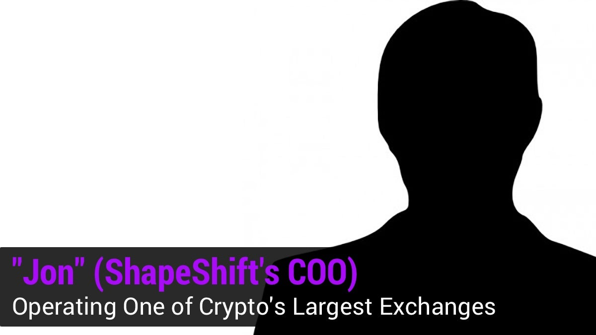 Podcast] ShapeShift's Anonymous COO on Operating One Of