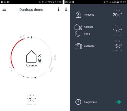 18-1 Test de la tête thermostatique Danfoss Eco Bluetooth