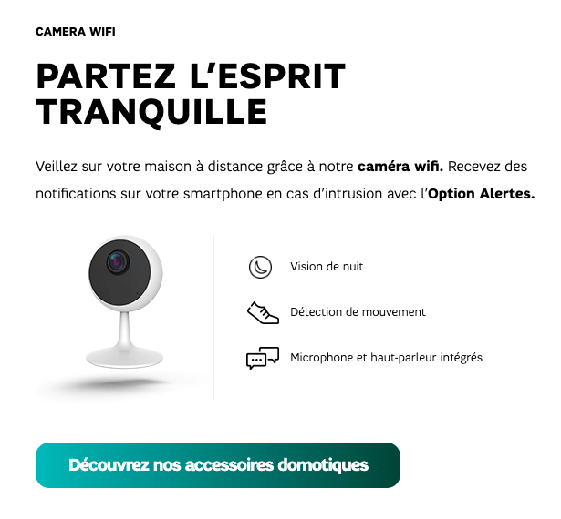 camera-connectee-sfr La domotique arrive chez SFR avec le pack Smart Home