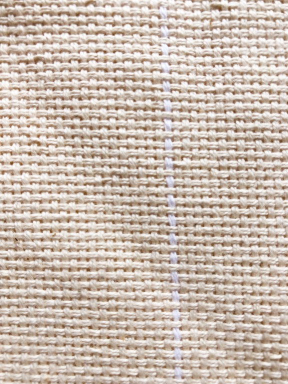 Monks cloth punch needle foundation fabric