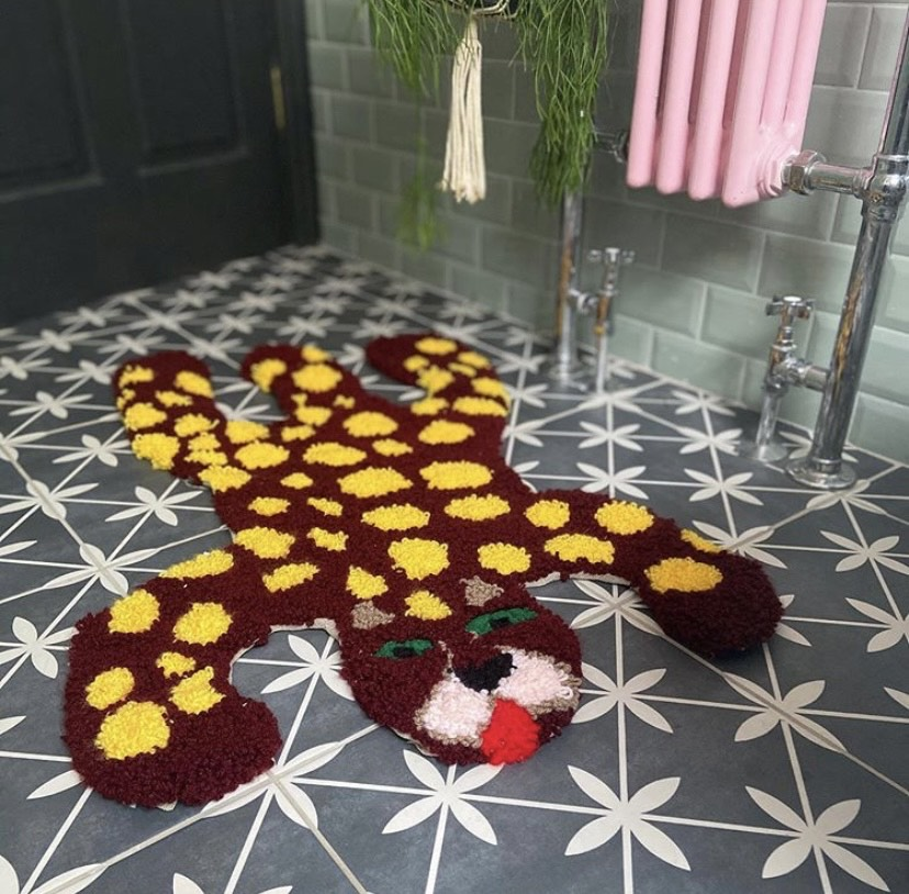 Punch Needle Rug by Joanne Mooney