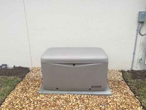 small resolution of kohler standby unit installed on a rock pad