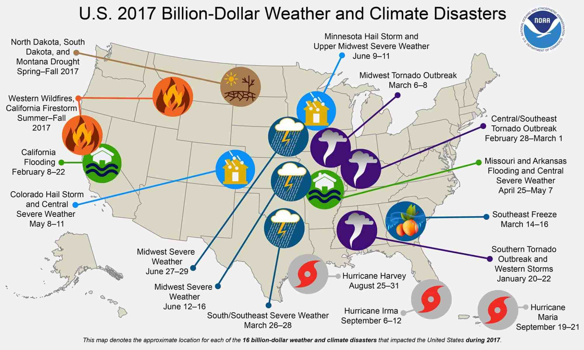 hight resolution of graphic detailing the weather disasters from 2017