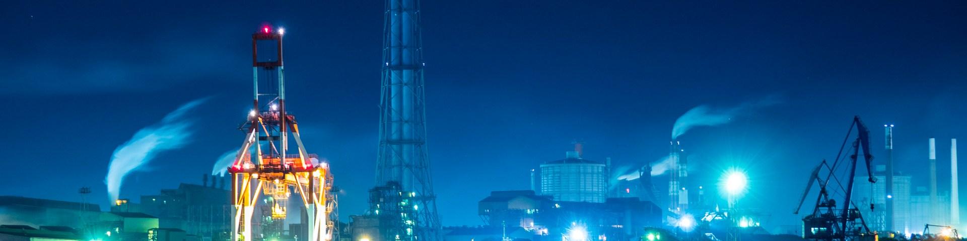 工場夜景:鹿島 湊公園