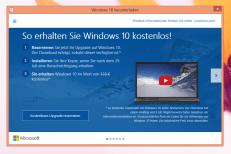 Get Windows 10 reserviert das neue Betriebssystem.