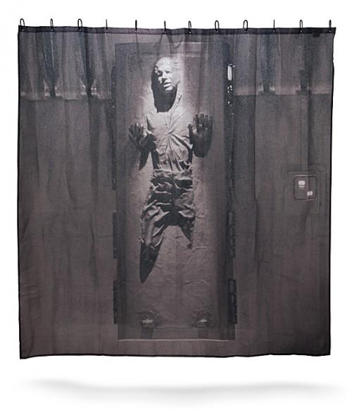 Han Solo in Carbonit versteinert Duschvorhang