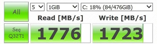 SSD Speed 1GB
