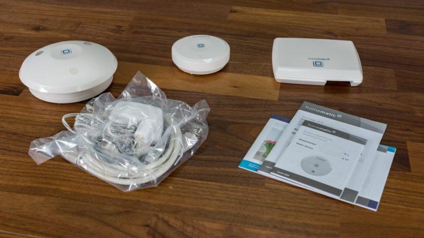 Homematic IP Starter Set Wasseralarm Lieferumfang