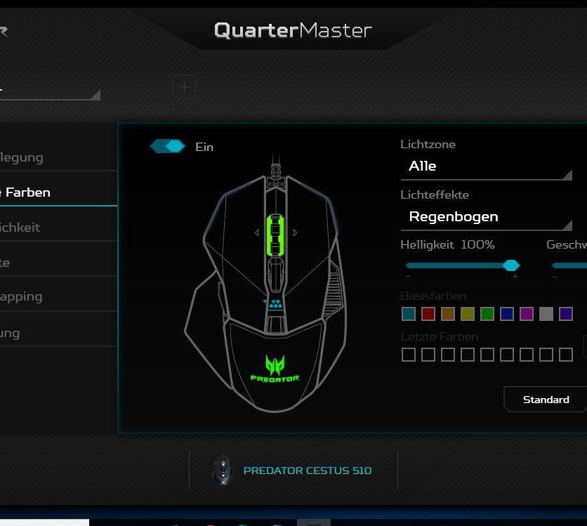 Acer Predator Cestus 510 Software III