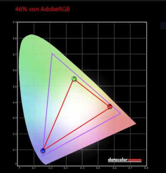 Medion Erazer X15803 AdobeRGB