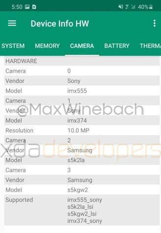 Samsung Galaxy S20-Camera-Sensors