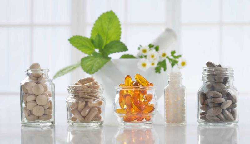 Image of Vitamins in glass jars