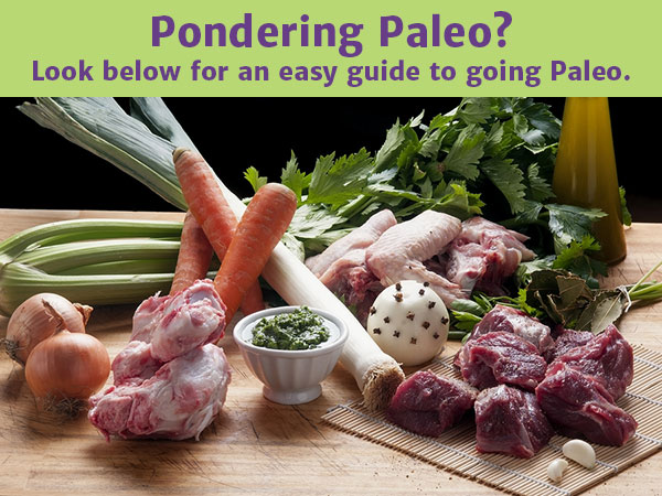 Pondering Paleo? Look below for an easy guide to going Paleo.