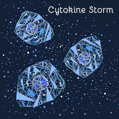 Image of the cytokine storm that can happens when dealing with COVID-19 —and why vitamin D may help ease this