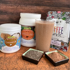 image of the Super Fat Coffee Smoothie —a great pick-me-up or lunchtime smoothie