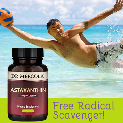 astaxanthin is a free radical scavenger and effective against sunburn