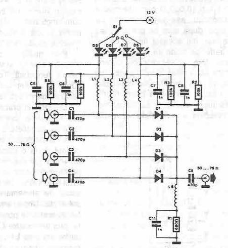 Circuit Selector Antennas using PIN Diodes