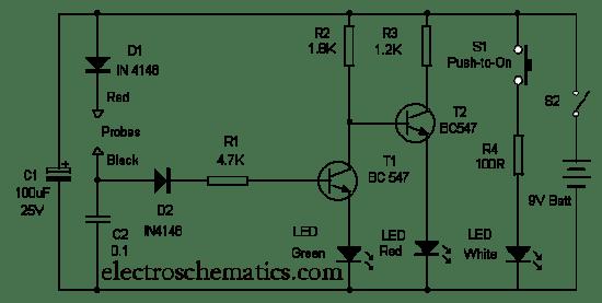 Circuito Teste de LEDs