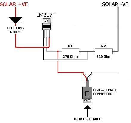 Circuito Carregador de Bateria usando Célula Solar