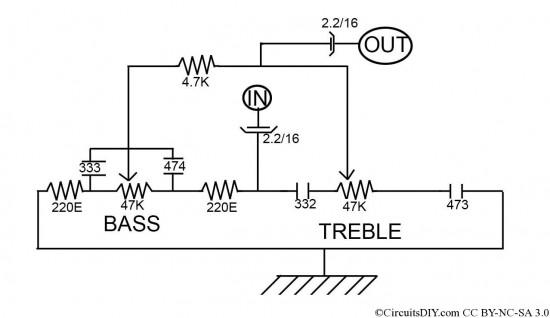 Controle de Graves e Agudos sem CI ou Transistor