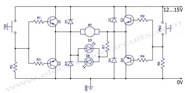 brushless motor wiring diagram led lighting h-ponte - controle de direção rotação para dc