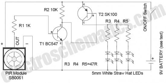 Circuito de Iluminação de Segurança com Sensor de Presença PIR