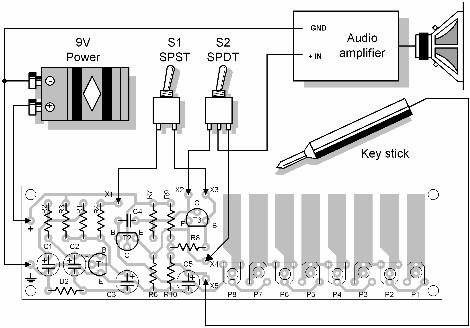 Simple Electronic Organ