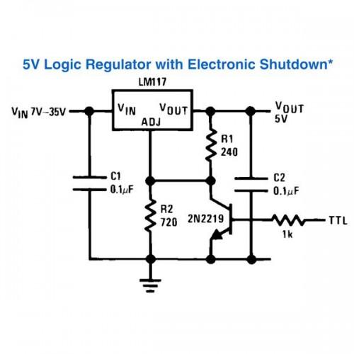 Voltage Regulator with Shutdown Digital