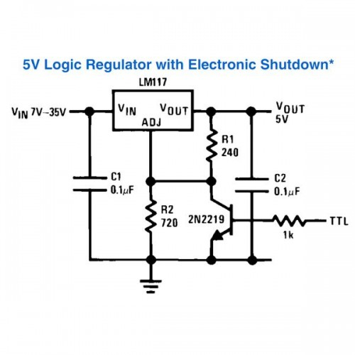 how to connect a voltage regulator in a circuit