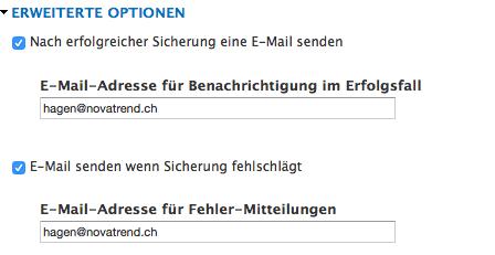 E-Mail Einstellungen