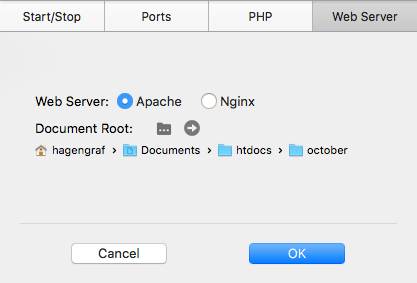 October CMS - Document Root