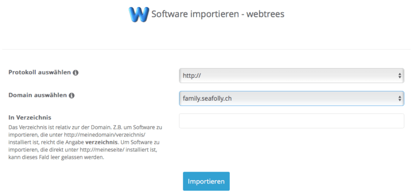 Webtrees - Import