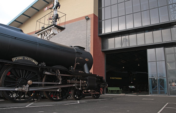 Scotsman looking quite different in wartime black in 2011at the museum