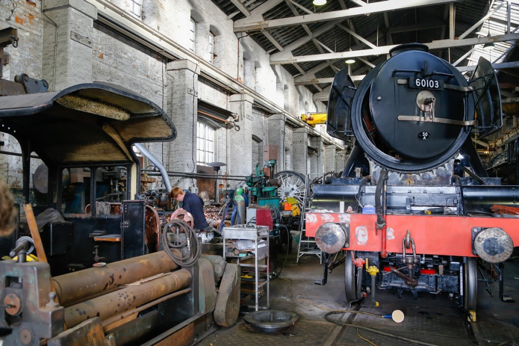 Scotsman being worked on in Bury just last month.