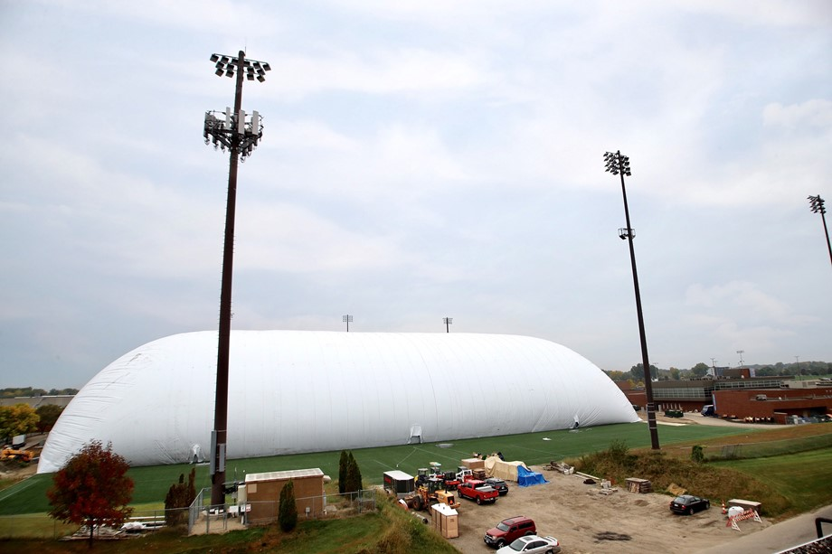 The M Health Fairview Dome completed inflation.