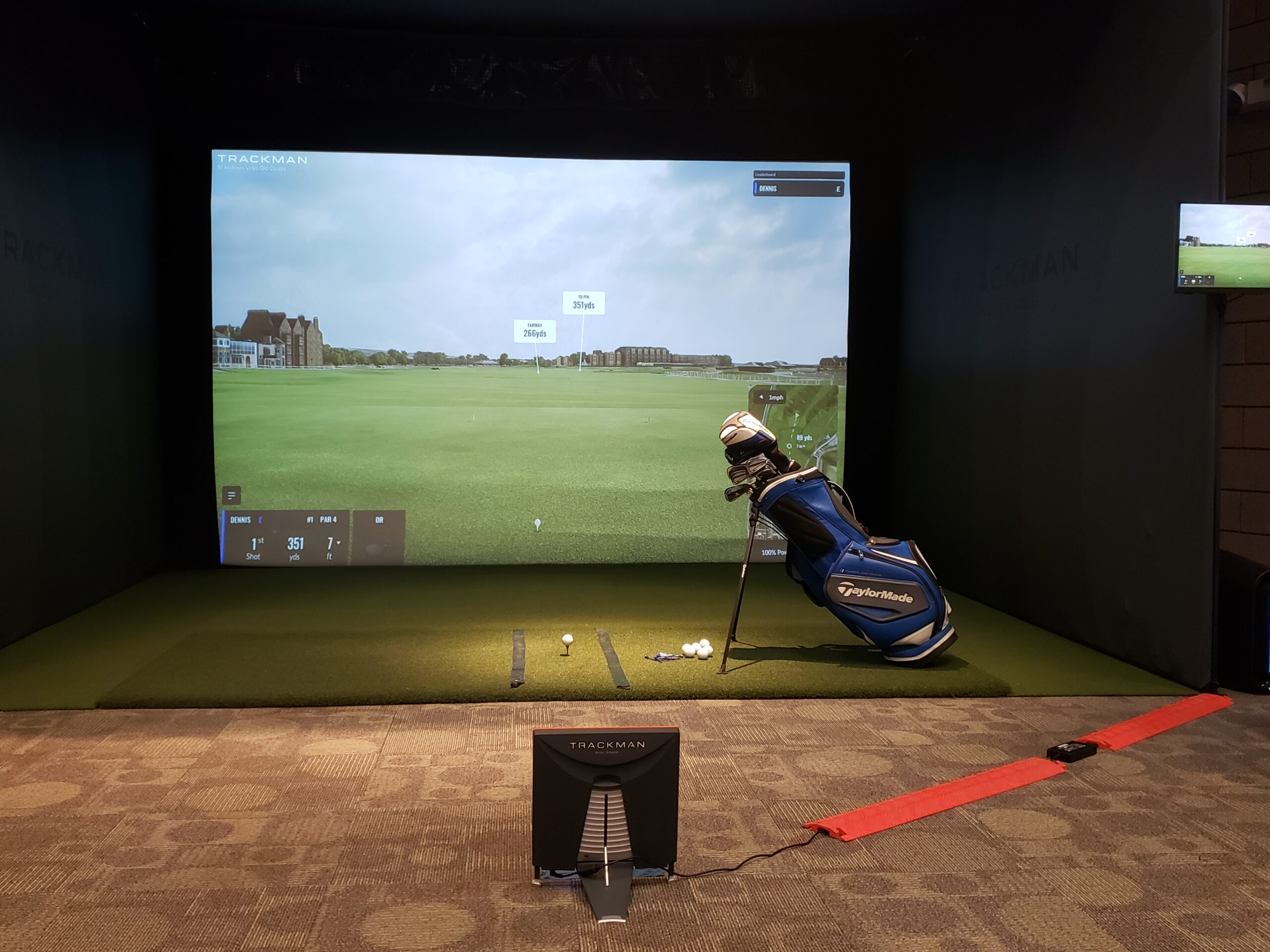 The NSC installed a TrackMan Golf Simulator in the Welcome Center. The simulator can replicate a ball's trajectory using advanced flight and terrain physics.