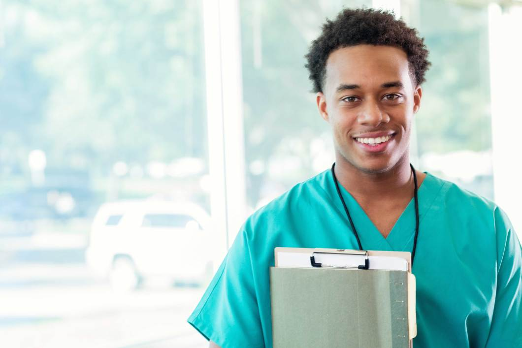 Student/young professional in scrubs
