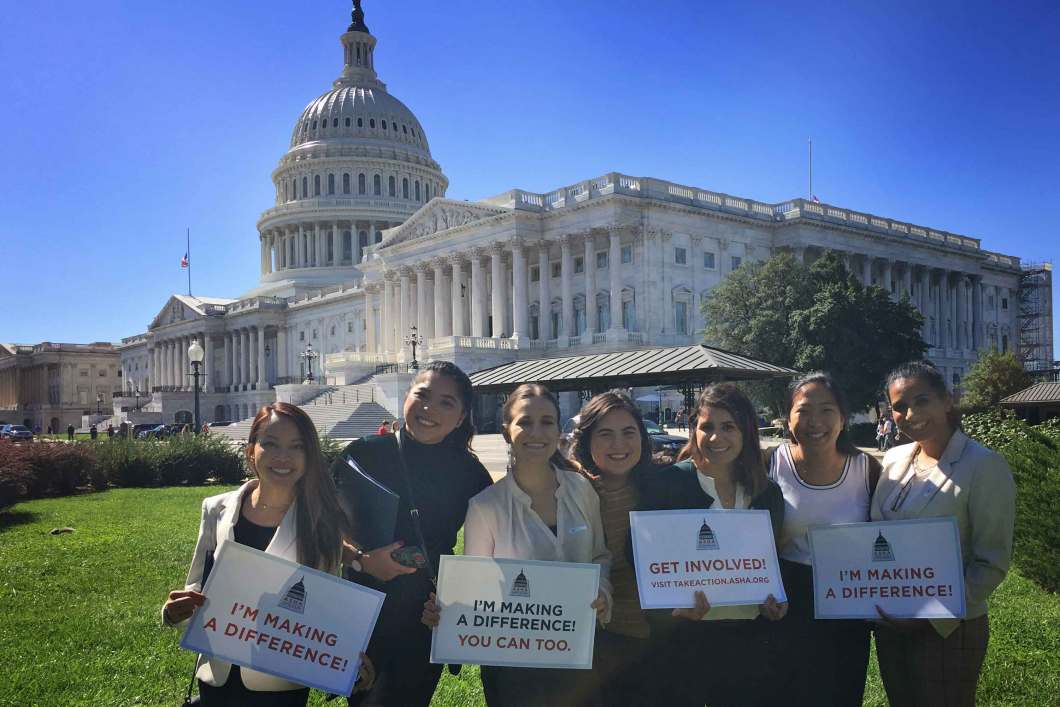 California State University, Fullerton, NSSLHA Chapter advocating on Capitol Hill