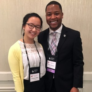"""Charlotte with Darius Thomas, NBASLH Student Representative, at the 2018 NBASLH Convention. She shared, """"The positive energy and friendships I gained from my time there are memories I'll never forget."""""""
