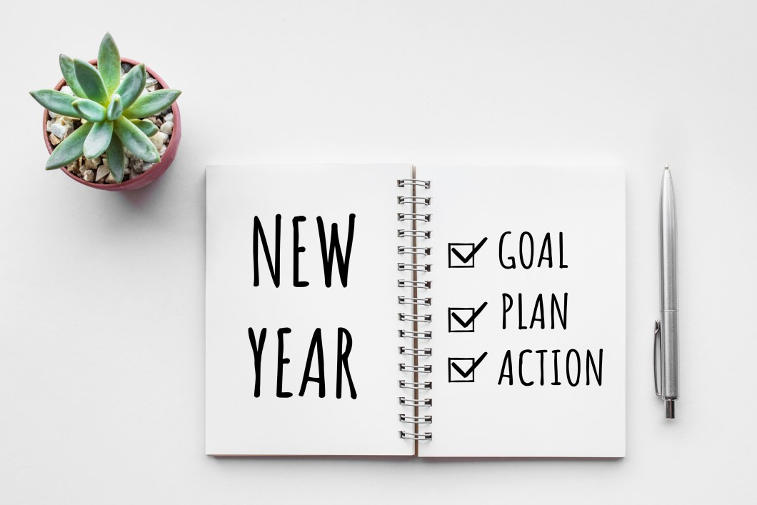 New Year's resolution notebook