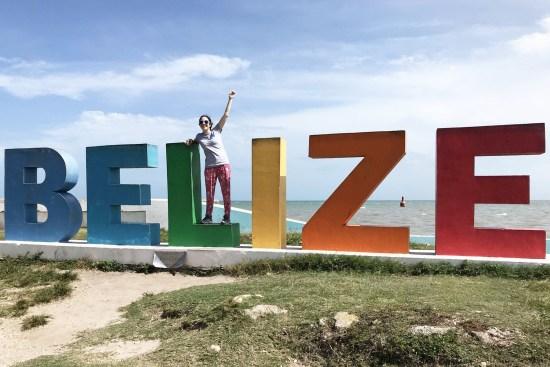 Norah AlJunaidi in Belize for study abroad.